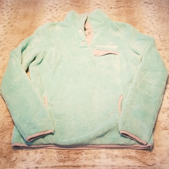Free Country Jackets & Blazers - Free Country Light Sea Foam Green Zipped Fleece